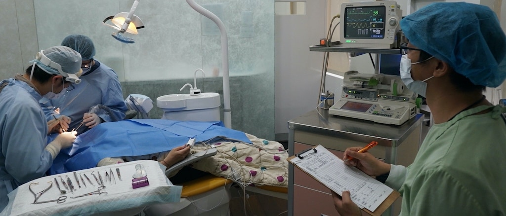 舒眠植牙-舒眠牙醫-鎮靜植牙-鎮靜植牙手術透過麻醉使患者在淺眠下進行治療-需有麻醉專科醫師