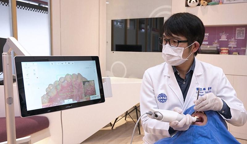 桃園牙周病專科-葉立維醫師-數位口內掃描機取代傳統印模